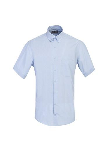 Kiğılı Regular Fit Kısa Kol Ekose Gömlek Mavi